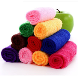 Wholesale 25cm cm Soft Microfibre Cleaning cloths Home Household Clean Towel Auto Car Window wash Tool Small Squre Multi color Easy to air dry