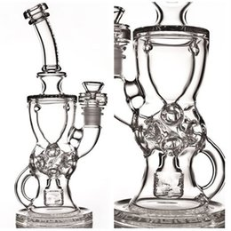 FTK 2016 new glass bong Fab Torus Klien recycler water pipes oil rig Hookahs 14.4mm female joint good function High quality