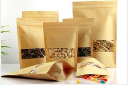 nice quality Moisture-proof Bags,Kraft Paper with three layer Stand UP Pouch, Ziplock Packaging Bag for Snack Candy Cookie mini order 100pcs