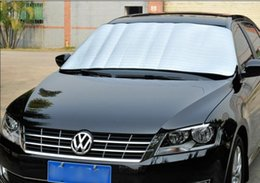 Wholesale Car Covers Thickening Foldable Silver Reflenctive sun shade Sun block big size medium size common size