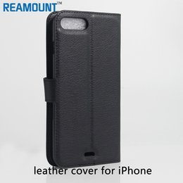 50pcs Fashion Luxury Genuine Leather Wallet Case For Iphone 6 6S 4.7 6S Plus 5.5 Card Holder Photo Frame Stand Coque Bags