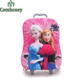 Filles valise à roulettes en Ligne-Valise Hello Kitty pour les filles Sacs d'école pour chariots pour garçons Sac à dos pour école Sacs pour enfants sur roues Sac pour enfants
