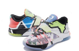 2017 KD7 VII Kevin Durant Glow In Dark chaussures de basket-ball pour hommes ce que les KD 7 Sneakers Kds Athletic Men Shoes Taille 7 ~ 12 MVP SE Glow In Dark à partir de kd chaussures hommes taille 12 fournisseurs