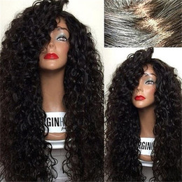 Wholesale curly human hair wigs silk top front lace wig silk base top full lace glueless wig natural scalp baby hair around