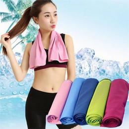 Descuento bufanda para el frío Creativo Hielo Frío Toalla 90 * 35cm Hielo Enfriamiento Toallas Verano Deportes Yoga Enfriamiento Bufanda Seco Rápido Seco Toallas Toallas Toallas