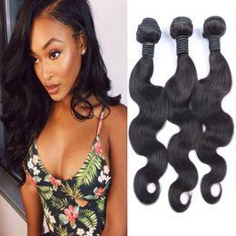 Brazilian Body Wave Human Hair Weaves 7A Unprocessed Brazilian Human Hair Extensions 3Bundles 150g 8-26inch Brazilian Human Hair Weave pcs