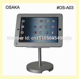 Wholesale for iPad air air2 pro quot table holder tilting safety stand with locking enclosure display on hotel countertop or desk