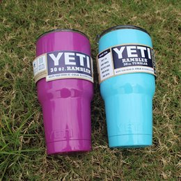 Wholesale Europe and the United States the yeti cup stainless steel vacuum cup double cold car automotive glass beer package mail