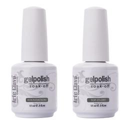 Wholesale Hot Sale ml Arte Clavo No Wipe Top coat Primer Base Coat Nail Gel Soak Off Nail Polish Lacquer UV Builder Gel Set