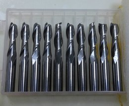 Wholesale Fast Shipping Solid Carbide mm Endmill Double Two Flute Spiral Bit CNC Router Bits CED mm CEL mm