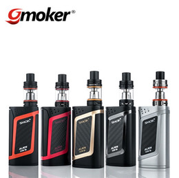 Wholesale 100 Authentic SMOK Alien Kit Alien W TC Box Mod with ML TFV8 Baby Tank TCR Mode Dual Battery Large Air Chamber and Four Alternate Coils