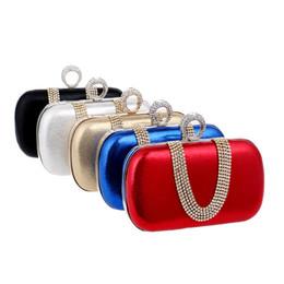 Venta al por mayor Ladies 'Rhinestones de lujo de la boda de embrague de noche bolsos de promoción de cuentas de monedero monedero Kit de maquillaje con cadena de hombro desde señoras monederos moldeado fabricantes
