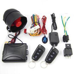 Descuento sistema de alarma a distancia un coche CA703-8118 Una forma de control remoto coche alarma de seguridad de los sistemas de clave para Toyota 6V-12V con indicador LED CAL_103