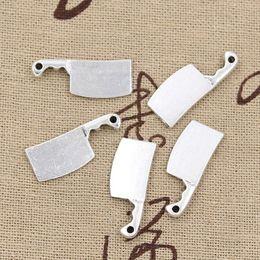 Wholesale Charms kitchen knife meat cleaver mm Antique pendant fit Vintage Tibetan Silver DIY for bracelet necklace