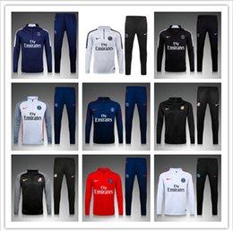 Wholesale NEW PSG football training suit Best Quality soccer tracksuits verratti cavani di maria training suit Jogging suit
