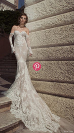 Vintage Julie Vino Bridal Spring 2019 lace mermaid wedding dresses sweetheart applique long sleeeve bridal party gowns