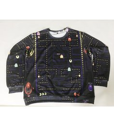 Real USA Size Pac Man 3D Sublimation print Crewneck Sweatshirt sweatshirts unisex streetwear plus size 6XL