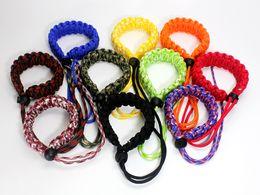 Outdoor lifesaving rope adjustable Camera Wrist Hand Strap Grip Braided Wristband for Nikon Canon Sony Olympus Pentax DSLR