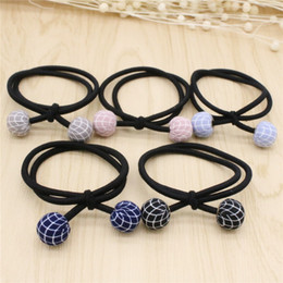 2017 New Nice Grid Fabric Hair Accessories Multicolor Elastic Hair Rubber Bands Hair Jewelry For Women