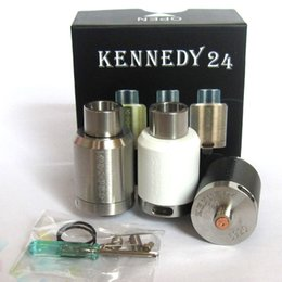 Vaporizer Kennedy 24 RDA Atomizers Clone Rebuildable Airflow Control Closed Deck 24mm Diameter Fit 510 E Cigarette DHL Free