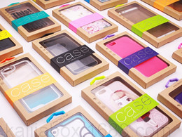 500pcs Wholesale Kraft Paper Retail Package BOX Mobile Phone Case BOX Packaging Packing BOX for iphone&Samsung