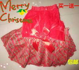 hot sales Christmas pet dog clothes warm smallest teddy dog dress cat Poodle clothes XXS