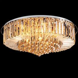 2017 pendeloques de cristal Livraison gratuite Haute qualité Nouveau moderne K9 Crystal LED lampe de plafond lampe pendante de lumière de lumière 50cm 65cm, 80c 100cm pendeloques de cristal ventes