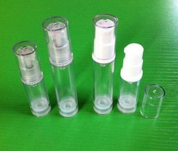 Wholesale 5ml Airless Bottle Clear and Plastic Lotion Sub bottling With PP Vacuum Pump Serum Bottle Samll Sample Bottle