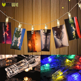 Wholesale Home Wall Room Decoration LED String M Battery Operated Photo Gallery Clip Colorful String Lights For Christmas Party Wedding