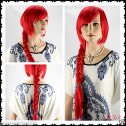 New wig Cosplay Fashion Wig Red Long Straight Wig Women's Weaving Braid Wigs