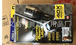 Wholesale ATOMIC BEAM USA Tough Grade Tactical Flashlight Flashlights Torches with Retail Box