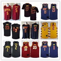 Wholesale 2017Best Quality LeBron James Kevin Love Kyrie Irving Shirt Uniforms Jr Smith with sleeve Black Red Yellow