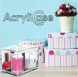 AcryliCase Storage Box, Clear Acrylic Jewelry & Cosmetic Storage Displ