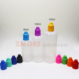 60ml 100ml 120ml PE E Liquid Bottle Dropper Plastic E-Juice Empty Bottles Child Proof Caps Long Thin Needle Tips Translucent Bottle For Sale