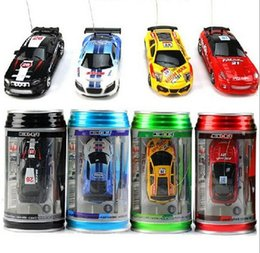 Wholesale New Brand Mini Coke Can Model High Speed Racing Shift Sport Car Remote Control cars and rc car electronic for toys and Hobbies