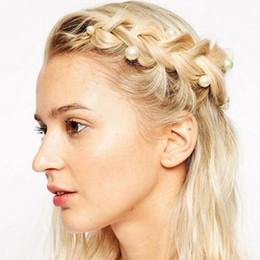 Descuento las cabezas de flor clips Envío libre al por mayor de la horquilla del dispositivo del pelo de la cabeza del brote de flor de la horquilla del tornillo de la perla exquisita