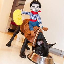 Головные уборы для собак Онлайн-Pet Cat собак Western Cowboy Rider Bull Hat Одежда Одежда Костюм Косплей платье Экипировка Одежда Рождественский подарок