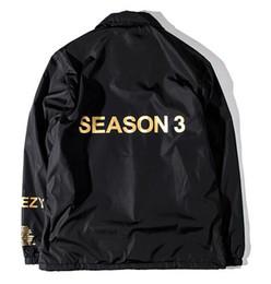 Wholesale designer kanye west jackets for men women windbreakers hip hop bomber jacket streetwear hip hop season windbreaker