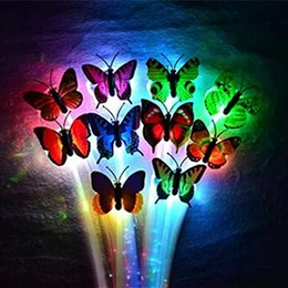 Butterfly Shine Braid LED Colorful Fiber Optic Hair Essential Decoration Halloween Christmas Party Bar Club Hanging Flash Decoration