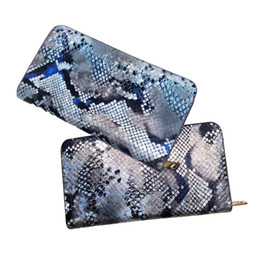 Promotion portefeuille de cartes de poche Classic Vintage Woman Portefeuilles Embrayage Serpentine Credit Card Package Marque Ladies Purse Long England Style VKP1218D