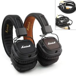 Wholesale Marshall Major II Headset With Mic Deep Bass DJ Hi Fi Headphones HiFi Earphones Professional DJ Headphones