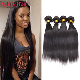 22 pouces extensions de cheveux longueur en Ligne-Malaisie Straight 4pcs Hair Bundles Mixed Longueur 8-28 pouces Extensions de cheveux humains malaisiennes 8a Unprocessed Virgin Wavy Hair Weft Wholesale
