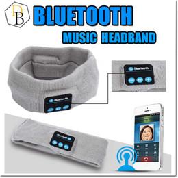 Wholesale bluetooth Earphone For Iphone Handband Edge Yoga Hat Sport Cap Headset Wireless Hand Band Earplug Music Player Handphone Handfree Beanie
