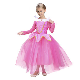Wholesale Baby Belle Princess Sleeping Beauty girl tutu skirts Princess Aurora Fancy Dress Xmas Costume PrettyBaby belle princess dress Cosplay Gauze