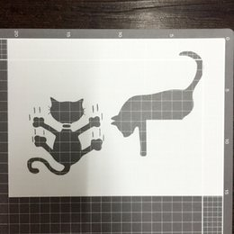 wholesale washable stencils for kids Masking template For Scrapbooking,cardmaking,painting,DIY cards- Two cats 285