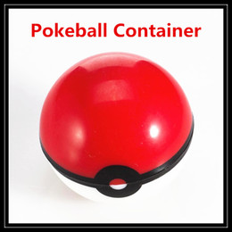 Wholesale Non Stick Pokeball Container Wax Jars Food Grade Silicone Gel Ball Pattern Storage Box For Herbal Vaporizer Glass Bong Accessories DHL Free