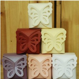 Wholesale Butterfly Favor Candy Box DIY Folding Party Boxes Gift box Candy box chocolate boxs color can choose