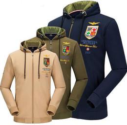 Wholesale Men Aeronautica Air Force One Hoodie Embroidery Logo Men Swag Military Plane Pilot Cotton Hoodie Sweatshirt Jacket