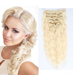 Clip In Hair Extensions Curly 100% Human Hair Color #1 #118 #4 #613 #27 Water Wave Remy Hair Extensions 7PCS Set Direct Factory Price