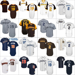 johnny manziel jerseys Promotion 2017 Flexbase cool base de retour San Diego Padres 19 Tony Gwynn 2 Johnny Manziel Blanc Bleu Maillot de baseball 1978 Turn Back Stithed S-4XL